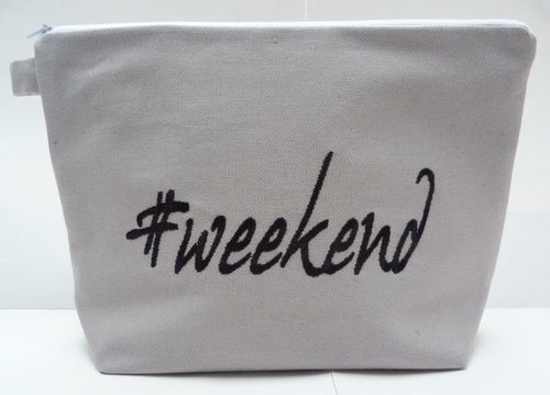 Tasche WEEKEND Canvas grau