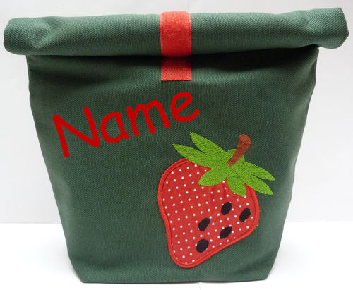 LunchBAG ERDBEERE Canvas tanne