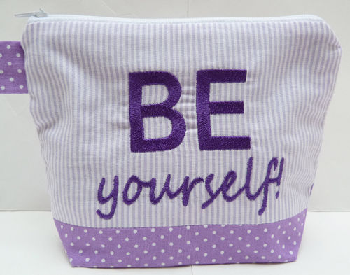 Kosmetiktasche BE YOURSELF! flieder